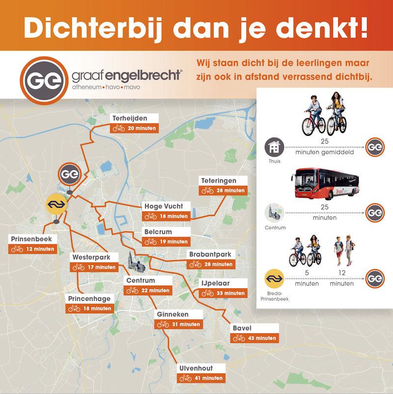 Routes naar Graaf Engebrecht Breda